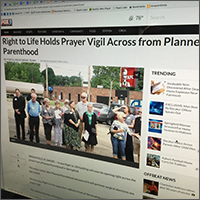 News coverage of vigil